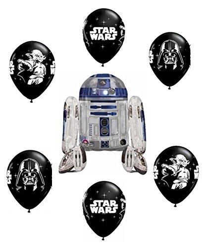 Party Supplies Star Wars R2d2 Airwalker Balloon Bouquet]()
