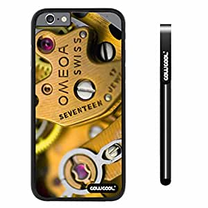 CowCool Apple iphone 6 4.7 inch Case Hard PC Gear in Watch Black Shell Single Layer Protective Case (12)