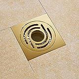 SJQKA Floor Drain Floor Drain Sewer Deodorant Copper Bathroom Washing Machine pest Control Floor Drain Large Displacement Anti-Backwater Floor Drain Cover, A