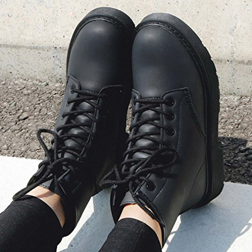 RENBEN 12110 Women Martin Boots Fashion Platform Shoes Ladies Casual Shoes(Color Black)(Size:38) SfwIGmerZ