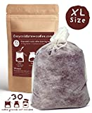 BIG BREWING BAGS - Extra Large Commercial Cold Brew Coffee Maker Filters for 1-2 Gallon (4-8 Quart) Glass Mason Jar Dispensers & Kegs Systems - Infusing made easy for Restaurant, Cafes, Offices -30 ct