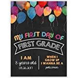 First Day of School Balloon Chalkboard Sign Photo Prop Poster