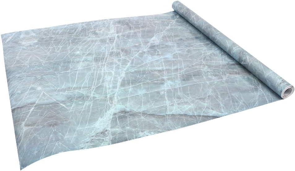 etiqueta de pared para cocina Verde papel pintado de c/áscara y pegar decoraci/ón de muebles encimera /… Yizunnu 60x500cm Rollo de papel de contacto autoadhesivo de m/ármol