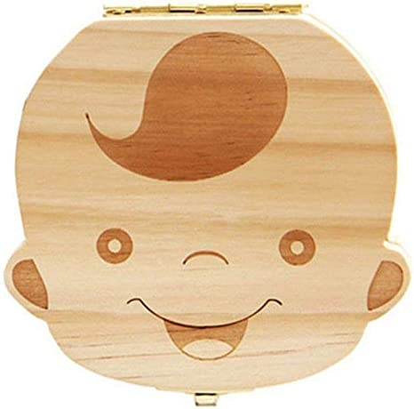 Depory Caja de dientes de madera con diseño de dibujos animados ...