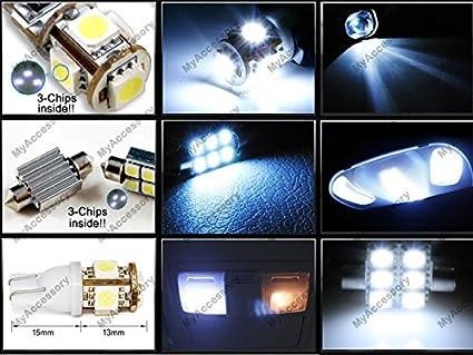 Amazon.com: 12 x Premium Xenon White LED Lights Interior Package Upgrade for Ford Edge (2007-2014): Automotive