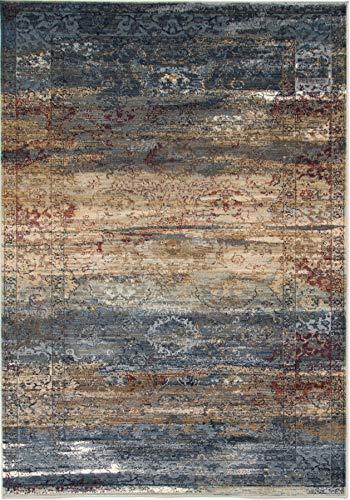 eCarpetGallery 302364 Evoke Area Rug, 5'3'' x 7'3'', Navy Blue from eCarpet Gallery