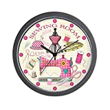 CafePress – Sewing Room – Unique Decorative 10″ Wall Clock For Sale