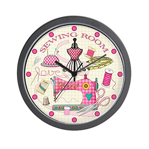 """CafePress - Sewing Room - Unique Decorative 10"""" Wall Clock"""