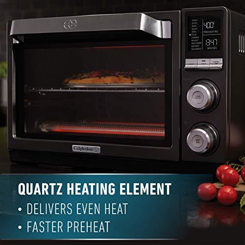 Calphalon Quartz Heat Countertop Toaster Oven, Dark Stainless Steel (Renewed) by Calphalon (Image #2)