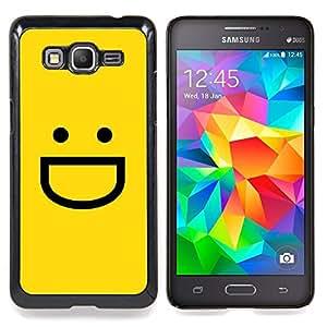 Yellow Emoticon Emoji Caja protectora de pl??stico duro Dise?¡Àado King Case For Samsung Galaxy Grand Prime G530H G5308