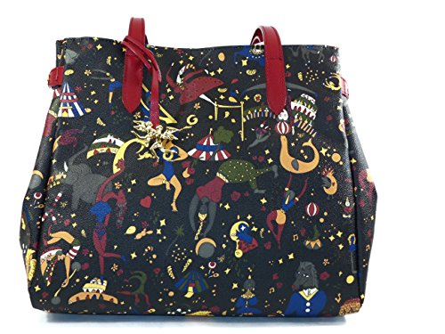 Borsa Tote Magic Circus cm Soft Prugna Nero 35x30x16 Piero Guidi FFwdBq4rU