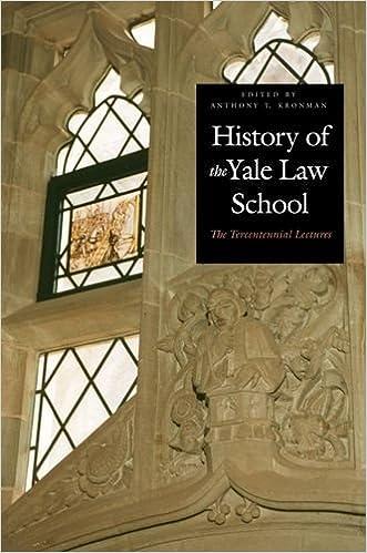 Amazoncom History Of The Yale Law School 9780300095647 Anthony