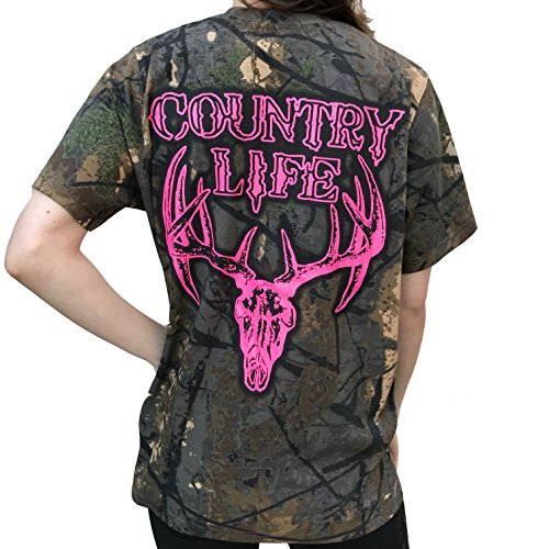 Country-Life-Pink-Deer-Skull-Tree-Camo-Short-Sleeve-Shirt