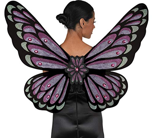 AMSCAN Gothic Jewel Butterfly Wings Halloween Costume Accessories for Adults, One Size ()