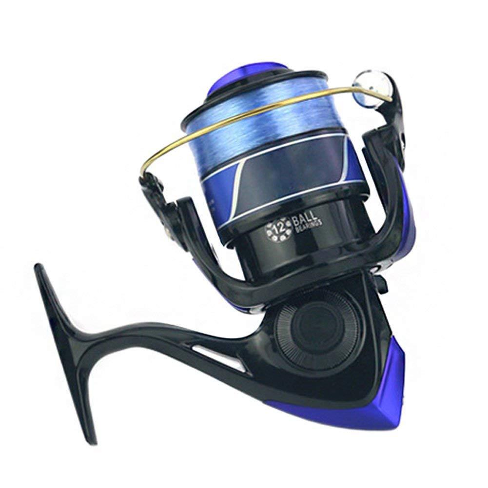 GEOPONICS Fishing Standard SpeedFeeder Spinning Reel Spinning Reels Fishing Light Weight Ultra B2Cshop color Black Spool Capacity 10000 Series