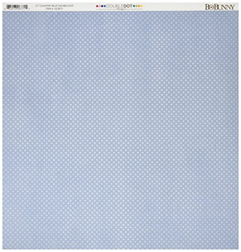 Bo Bunny DD Double Dot Paper 12x12 Country Blue