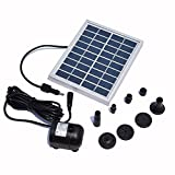 Adtobast 9V/2Watts Solar Power Panel Kit Water Pump With 60cm Maximum Water Height For Garden Pond Fountain Pool Plants Caring Bird bath
