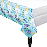 "Amscan First Communion Paper Table Cover, 54""x102"", Blue, 1 Pack"