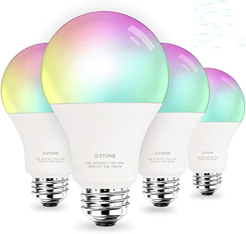 2020 Upgrade Smart LED Light Bulb A21 by 3Stone, 2700K-6500K RGBCW 10W 100W Equivalent E26 WiFi App Voice Controlled 2.4G Not 5G Multicolor Bulb, Works Perfect with Alexa, Google Assistant