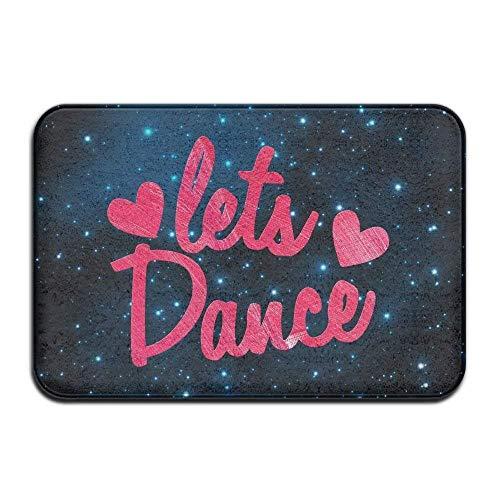 Soft Non-Slip Lets Dance with Cute Little Love Hearts Bath Mat Coral Fleece Area Rug Door Mat Entrance Rug Floor Mats ()