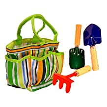 G & F Kids Garden Tool Set with Tote