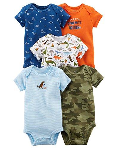 5 Pack Bodysuit Set (Carter's Carters' Baby Boys 5 Pack Bodysuit Set, Dinomite Dude, 3 Months)