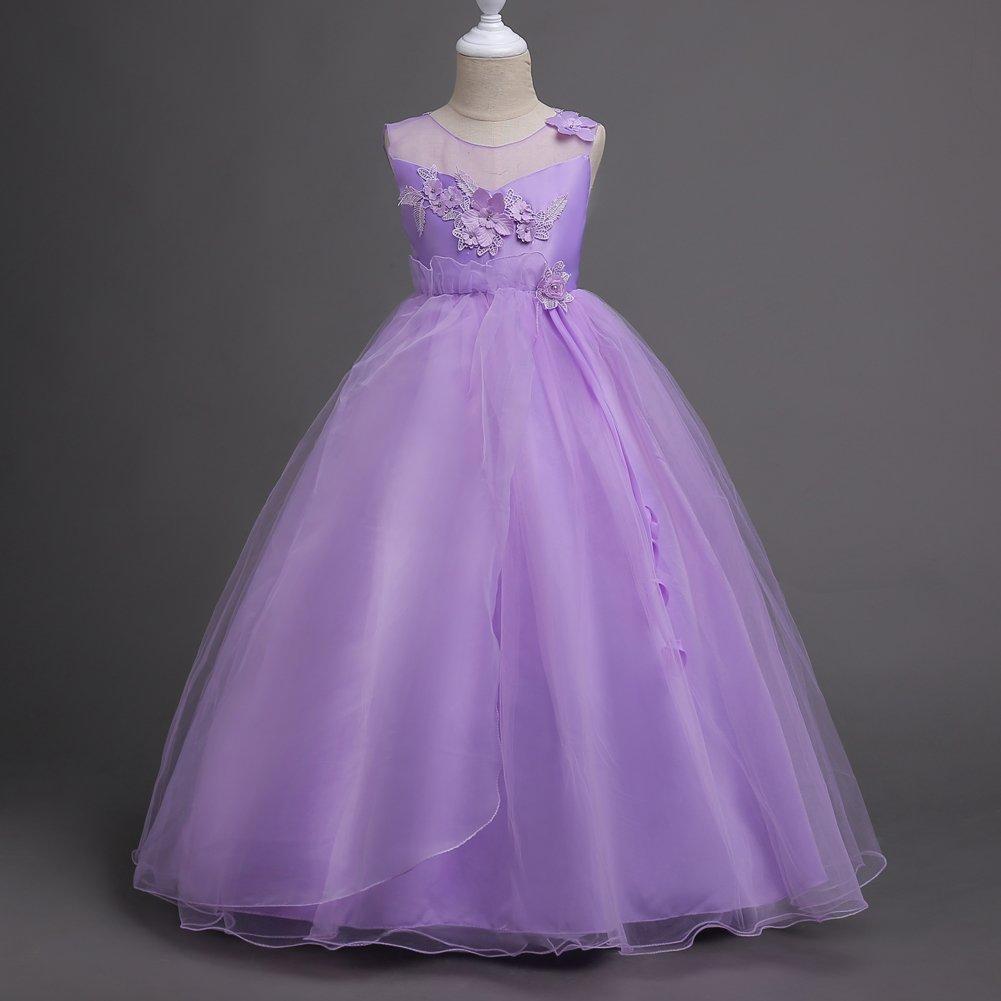 Princesa Vestido de Niña Años Vestir de Flores 5-16 la Boda Vestidos ...