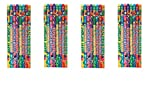 Geddes Happy Birthday Pencil Assortment, Set of 144 (66273) (4-Pack)