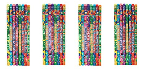 Geddes Happy Birthday Pencil Assortment, Set of 144 (66273) (4-Pack) by Raymond Geddes (Image #1)