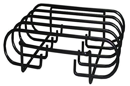 Broilmann Porcelain Enamel Sturdy Steel Rib Rack For Weber, Charbroil, Kenmore, Master Forge,Brinkmann, Green Egg, Primo and Kamado Ceramic Grills (Dims:10 L X 11 3/8 W X 3 H)