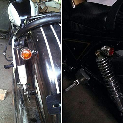 Adanse 4Pc la Luz de la Se?al de Vuelta de la Motocicleta de Chrome Llev/ó el Bulbo de L/ámpara del Motor para Cafe Racer