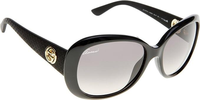 64d2e1708d Gucci 3787S LWD Black Rubber 3787S Butterfly Sunglasses Lens ...