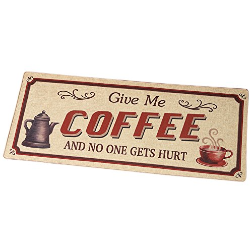Collections Etc Give Me Coffee Novelty Rug