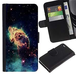 Ihec-Tech / Flip PU Cuero Cover Case para Apple Iphone 4 / 4S - Space Planet Galaxy Stars 46