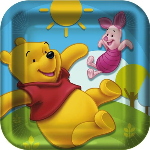 Pooh and Friends Square Dessert Plates ( ()