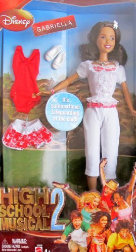High School Musical 2 GABRIELLA as LIFEGUARD DOLL w 2 OUTFITS (2007 Disney) -