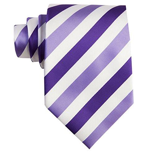amp; Set Striped Lilac TNS Cufflinks Hanky Purple Ties q5gnT