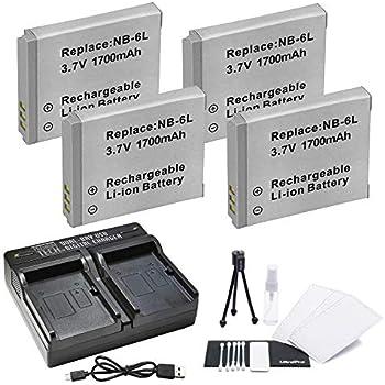 Amazon.com: 2-Pack NB-6L, NB-6LH High-Capacity Batería de ...