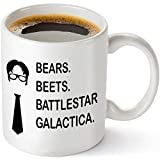 #5: Bears Beets Battlestar Galactica Funny 11 oz Coffee Mug - Inspired By TV Show The Office Quote - Unique Birthday Gift For Dwight Schrute Fans - Dunder Mifflin Christmas Present