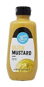 Amazon Brand - Happy Belly Dijon Mustard, Kosher, 12 Ounce