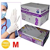 Sunnycare #7702 White Synthetic Vinyl Medical Exam Gloves Powder Free Size: Medium 1000pcs/case ;100pcs/box;10boxes/case