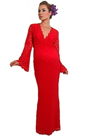 Nicole Michelle Maternity Holiday Red Formal Gown Medium At Amazon