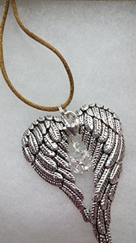 April Birthstone Angel Wings Memorial Christmas Ornament Sympathy Gift