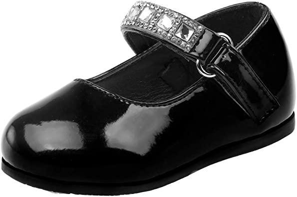 JOSMO Baby Girls Patent Dressy Shoe Bow Infant, Toddler