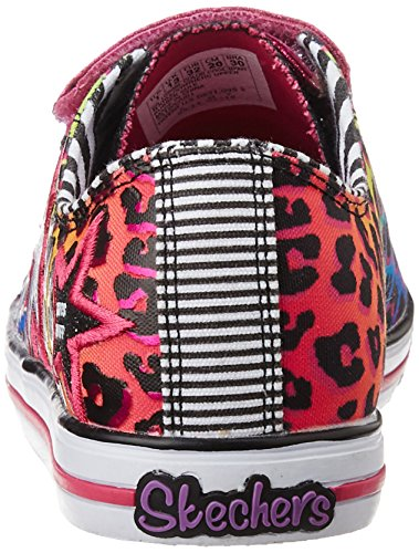Twinkle Toes By Skechers Chit Chat Prolifics Textile Turnschuhe, Black Multi, 35