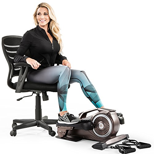 Bionic Body Under-Desk Elliptical Machine Mini Stepper Trainer with Magnetic Resistance Tubes NS-1009