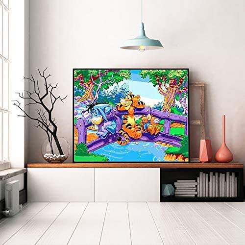 Photo frame 16 x 23 inch Color cat GJJHRA Paint By Numbers Kits animals For Adults/&Kids/&Beginner,DIY Canvas Acrylic oil Painting Kit