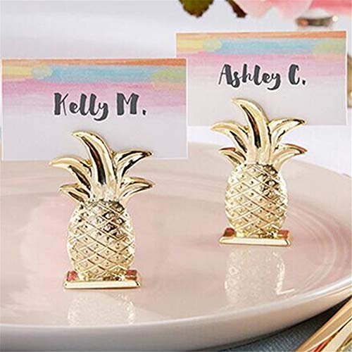 (20pcs Golden Wedding Favors Gold Pineapple Place Card Holders Party Table Accessories)