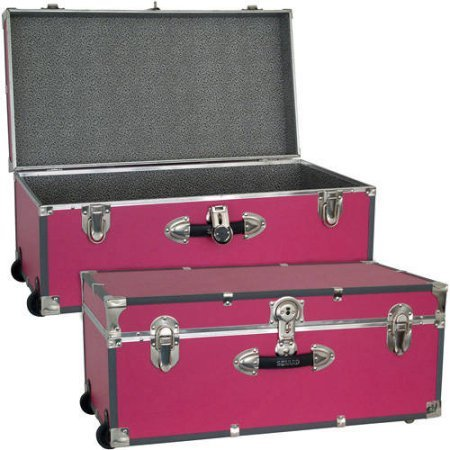 Mercury Luggage Seward Trunk Wheeled Storage Footlocker, 30'' /Model: 6113-18 /color: Pink by Generic