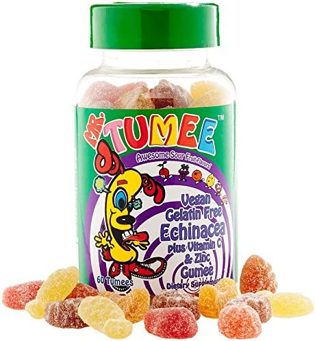 Mr. Tumee Echinacea Vitamin C Zinc Gumee, Strawberry Lemon Orange Grape Cherry Grapefruit, 60 Count